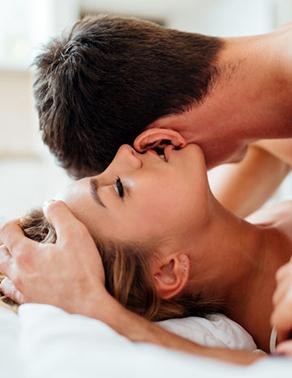 Couple enjoying kinetic attraction